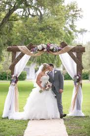 rustic wedding wooden and fl arbor ideas