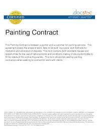 painting contracts templates printable purchase order form of contract template 2015 ideas