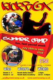 Summer Camp Flyer Template Interesting Kick Boxing Club Summer Camp Poster Template PosterMyWall