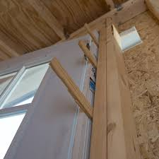 shims in place between the door and door frame