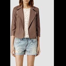 allsaints summer cargo leather biker jacket us 2