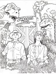 Jurassic Park Coloring Pages Desire Elegant 71 For Kids Online With