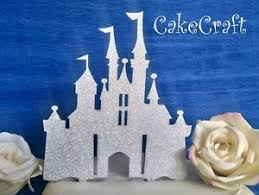 Glitter Acrylic Disney Princess Castle Birthdaywedding Cake Topper