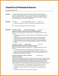 Sample Resume With Summary Sample Resume With Summary Of Qualifications Samples Of Resume 8