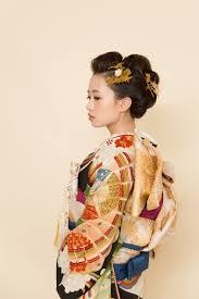肩スレスレのボブヘアからのゆる日本髪風 ヘア和装ヘア縁 Enishi