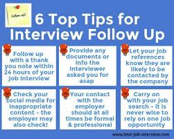 Job Interview Follow Up Help