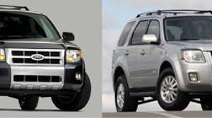 today ford announced for both of its redesigned compact sport utility vehicles the 2008 ford escape and 2008 mercury mariner