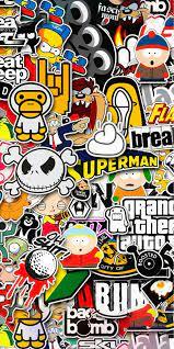 Hypebeast wallpaper, Sticker bomb ...