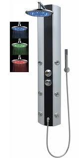 Duschpaneel Thermostat Dusche Regendusche Eckmontage Silber Schwarz A029t 0820