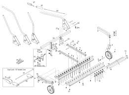 Jrco tine rake dethatcher parts diagram pre spring 2009
