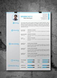 Free Photoshop Resume Templates Download Career Reload Template Mas