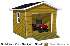 Z 12x12 Shed For 4 Wheeler Shed With Garage Door