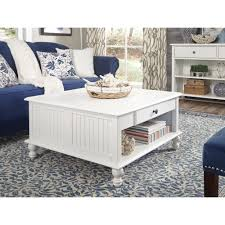 international concepts cottage beach white square coffee table