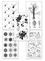 Deer Tree Tattoo Sticker Set 5pcs