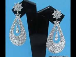 artificial american diamond chandelier earring from india