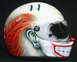 live fast die weird full face clown motorcycle helmet creepbay