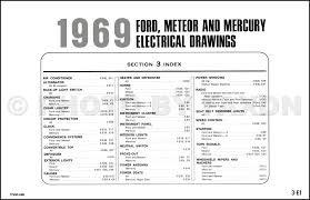 1969 ford and mercury wiring diagram galaxie custom marquis table of contents page