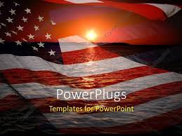 Powerpoint Template America Patriotic Concept With Sunrise