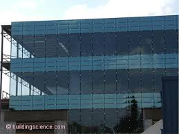 photograph 1 an all glass high performance thermally broken curtainwall with low e argon filled glazing units and r 12 spandrel insulation