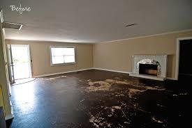 painting concrete floor in living room