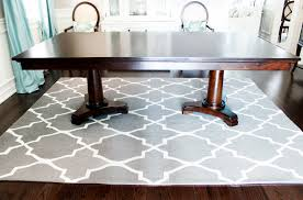 trellis rug double pedestal dining table