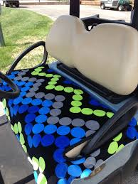 Golf Cart Seat Cover Pattern Cool Design