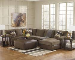 Living Room Sectional Seating 2 Piece Leather Sectional With