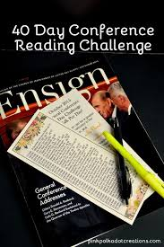 40 Day Book Of Mormon Reading Chart 40 Day Conference Reading Challenge Reading Challenge