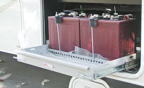 this slide out tray holds extra batteries and was crafted by a company that specializes in retrofit storage trays the extra heavy duty full extension slide