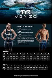Tyr Venzo Size Chart
