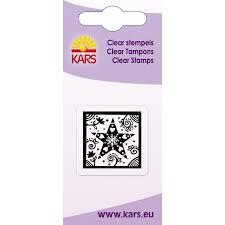 Mini Clear Stamps Weihnachtsstern Im Rahmen Ca 5 X 6 Cm