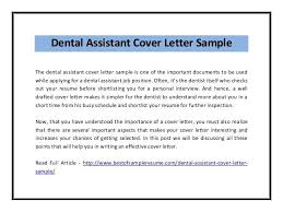 dental assistant cover letter samples sample cover letter for dental assistant dental assistant and