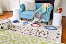 girls room layered rug