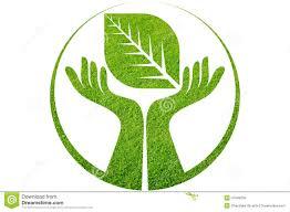 hand leaf logo stock illustration image  hand leaf logo
