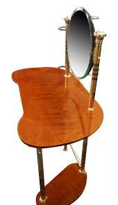 italian wood furniture. Mid-Century Italian Brass \u0026 Wood Dressing Table Furniture