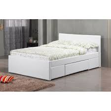 fusion 2 drawer king size leather bed white home furniture