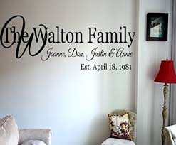 family names wall art