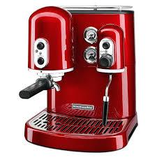kitchen aid espresso machines pro line series cup coffee maker w milk red kitchenaid machine parts