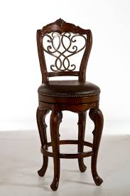 hilale burrell swivel bar stool dark brown