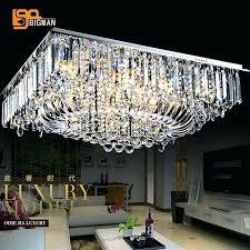 rectangular crystal chandelier linear chrome rectangular crystal chandelier 8 light rectangular ceiling light