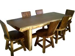 Buy Quality Beautiful Live Edge Solid Wood Dining Table For Sale