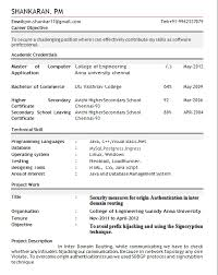 Breathtaking Cts Resume Format For Freshers 22 For Your Resume For Graduate  School With Cts Resume