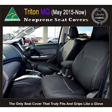 seat covers front 2 bucket seats snug fit for triton mn 2009 2016 premium neoprene automotive grade 100 waterproof