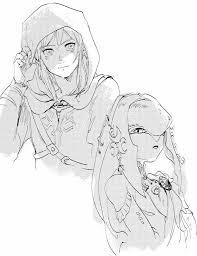 Link And Mipha Drawing イラスト ゼルダゼルダの伝説伝説