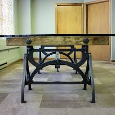 industrial conference table cast iron wood brake conference table industrial conference table diy
