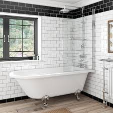 Freestanding Shower Bath free delivery dulwich freestanding shower bath and  bath screen with rail sjpdwny