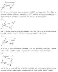 NCERT Solutions for Class 9th Maths: Chapter 9 Areas of ...
