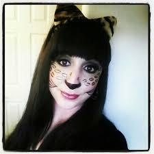halloween cheetah inspired makeup look