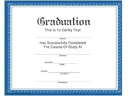 Graduation Certificate Template Download Printable Pdf