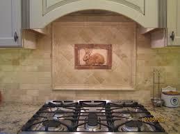 Decorative Kitchen Backsplash Kitchen Tiled Backsplash With Handcrafted Rabbit Tile As An